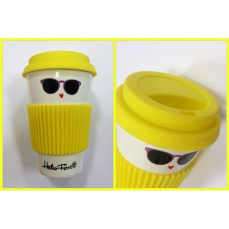 Mug de Viaje Amarilla